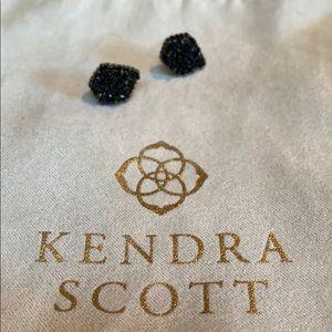 Jewelry - Kendra scott Tessa earrings in black drusy